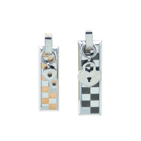Stainless Steel Couple Pendants (Key/Lock)