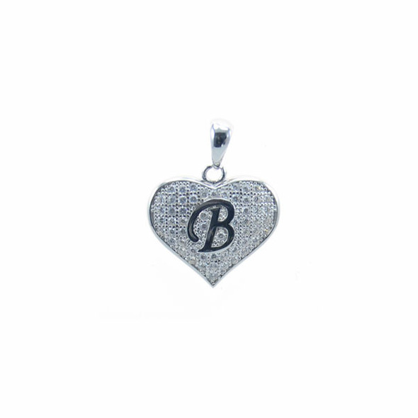 Sterling Silver Heart B (Micro Setting)
