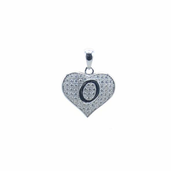 Sterling Silver Heart O (Micro Setting)