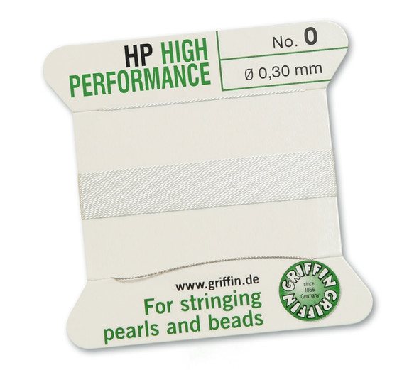 Griffin High Performance 2m 1 needle - Size 0 white