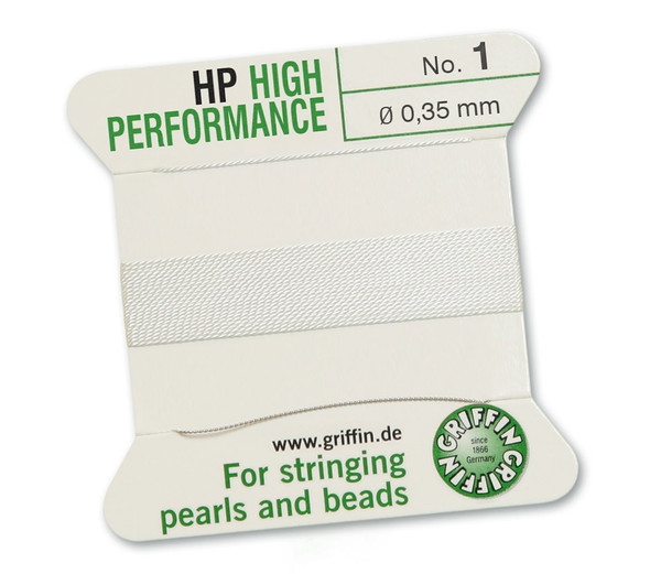 Griffin High Performance 2m 1 needle - Size 1 white