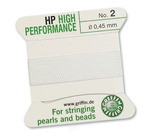 Griffin High Performance 2m 1 needle - Size 2 white