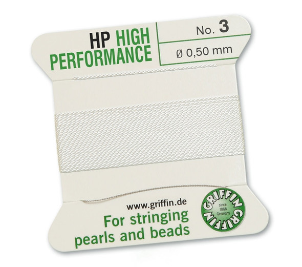 Griffin High Performance 2m 1 needle - Size 3 white