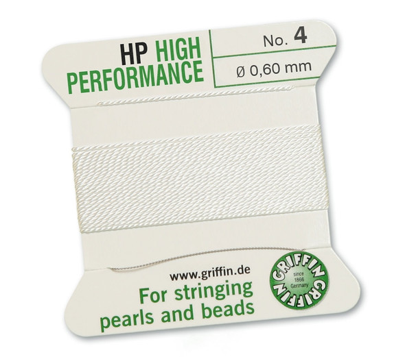 Griffin High Performance 2m 1 needle - Size 4 white