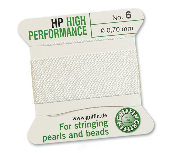 Griffin High Performance 2m 1 needle - Size 6 white