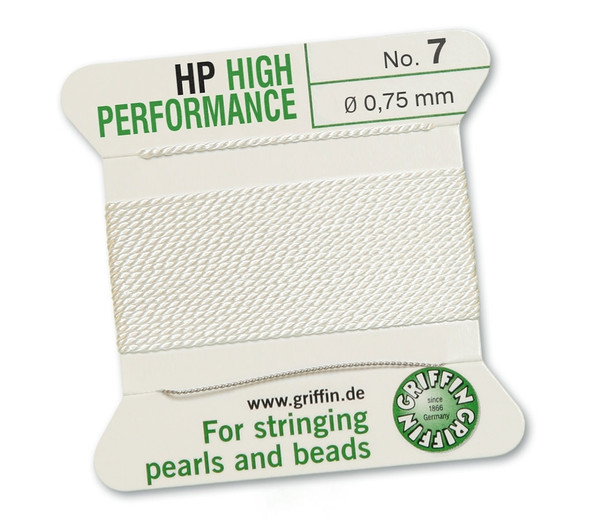 Griffin High Performance 2m 1 needle - Size 7 white