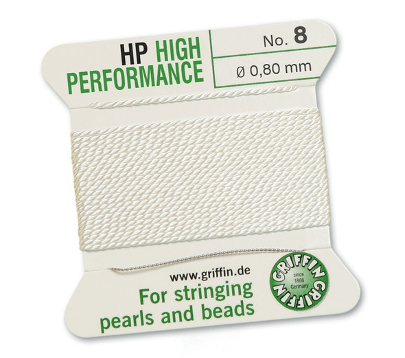 Griffin High Performance 2m 1 needle - Size 8 white