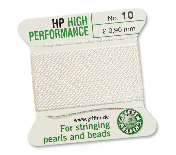 Griffin High Performance 2m 1 needle - Size 10 white