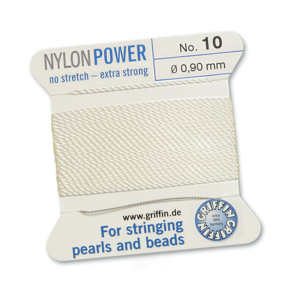 Griffin NylonPower Cord 2m 1 Needle - Size 10 White
