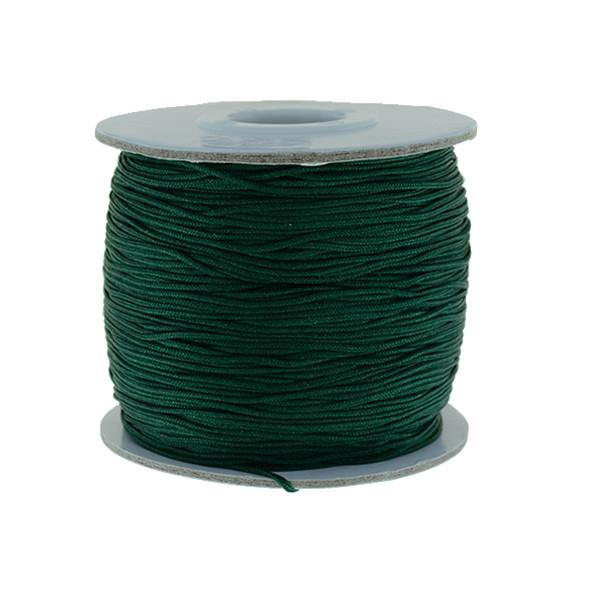 Nylon Chinese Knot Macrame Shamballa Cord 0.72mm - Dark Green