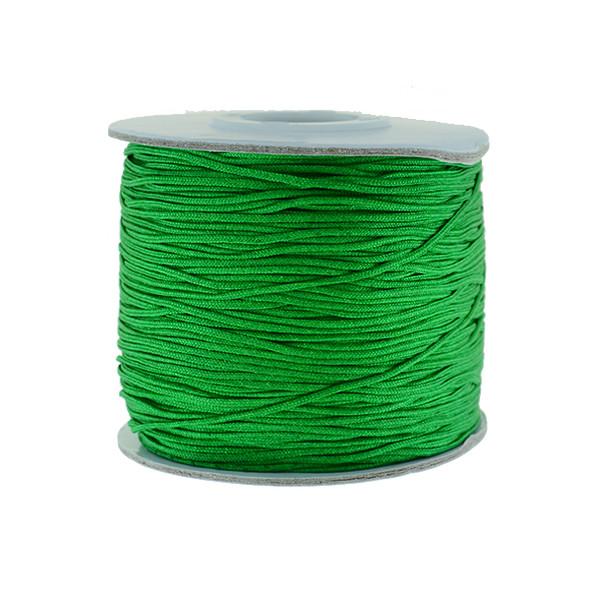 Nylon Chinese Knot Macrame Shamballa Cord 0.72mm - Green