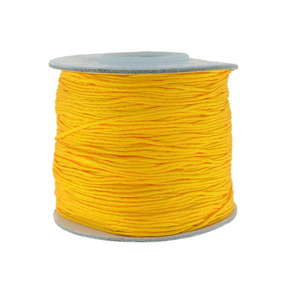 Nylon Chinese Knot Macrame Shamballa Cord 0.72mm - Orange