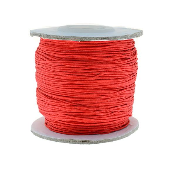 Nylon Chinese Knot Macrame Shamballa Cord 0.72mm - Red