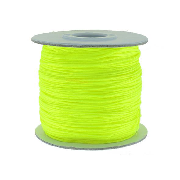 Nylon Chinese Knot Macrame Shamballa Cord 0.72mm - Yellow Florescent