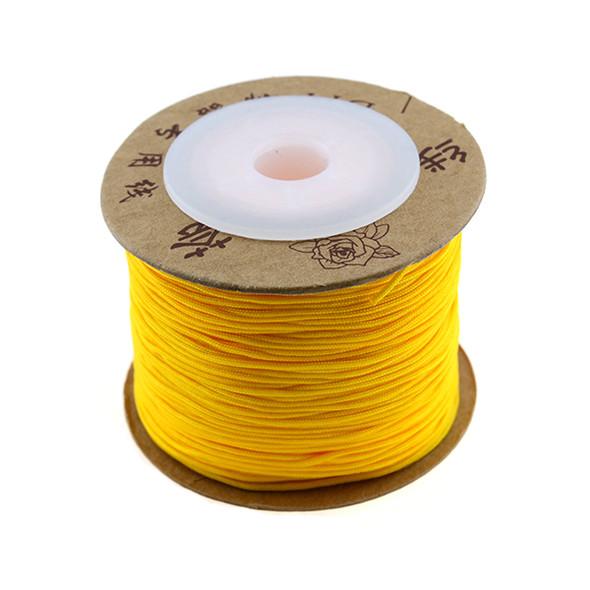 Premium Nylon Macrame Cord 0.8mm - Amber Yellow (80 Meters)