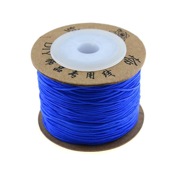 Premium Nylon Macrame Cord 0.8mm - Blue (80 Meters)