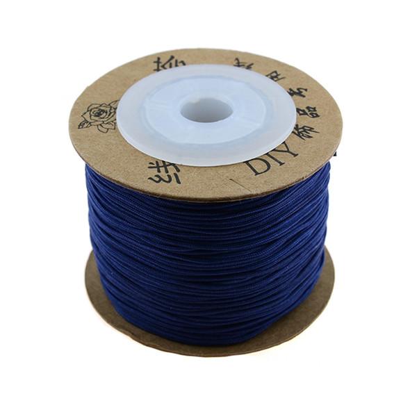 Premium Nylon Macrame Cord 0.8mm - Dark Blue (80 Meters)