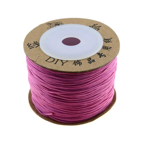 Premium Nylon Macrame Cord 0.8mm - Dark Pink (80 Meters)