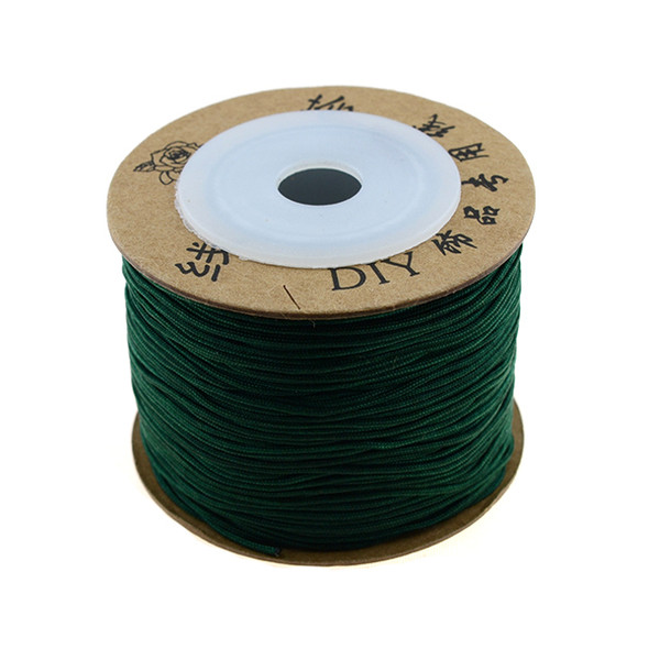 Premium Nylon Macrame Cord 0.8mm - Emerald (80 Meters)