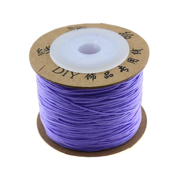 Premium Nylon Macrame Cord 0.8mm - Lilac (80 Meters)