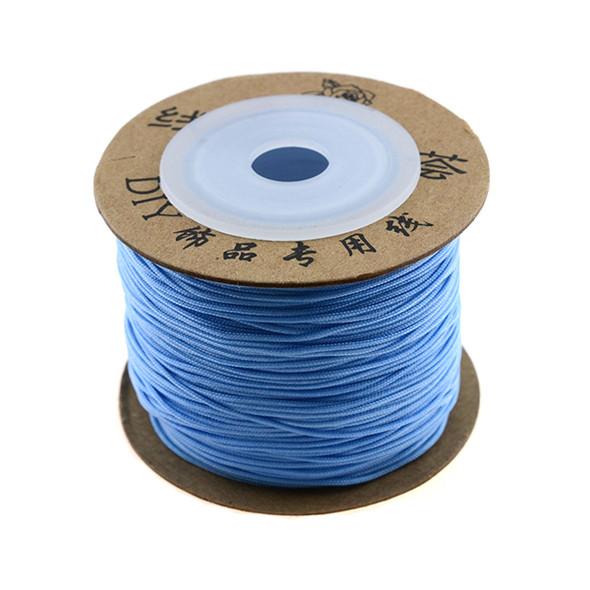 Premium Nylon Macrame Cord 0.8mm - Light Blue (80 Meters)