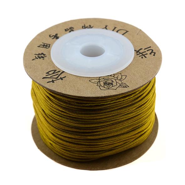 Premium Nylon Macrame Cord 1.0mm - Khaki (50 Meters)
