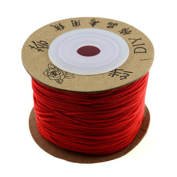 Premium Nylon Macrame Cord 1.0mm - Red (50 Meters)