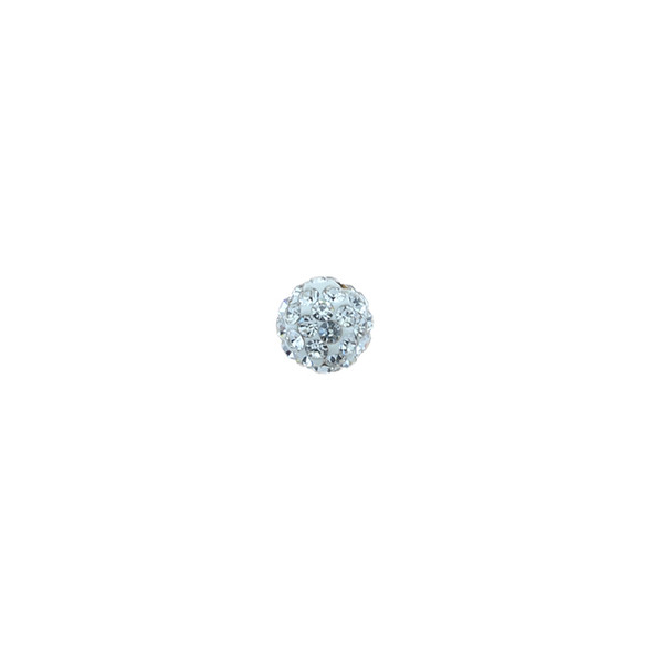 Pave Crystal Beads Crystal 6MM - 6/pack