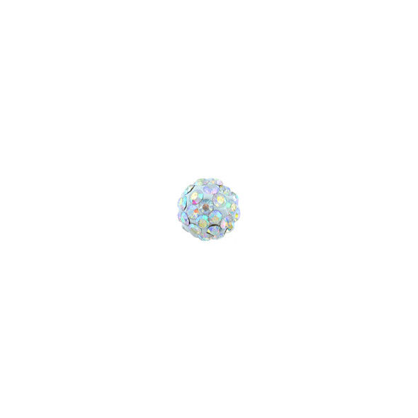 Pave Crystal Beads Crystal AB 6MM - 6/pack