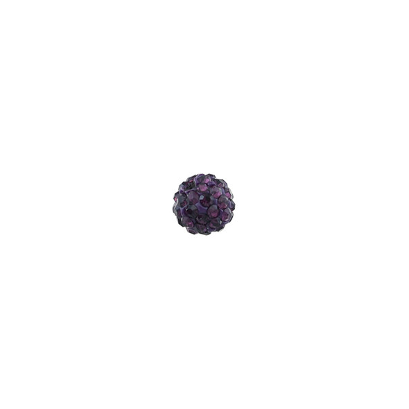 Pave Crystal Beads Amethyst 6MM - 6/pack