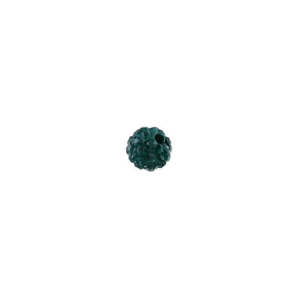 Pave Crystal Beads Emerald 6MM - 6/pack