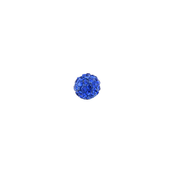 Pave Crystal Beads Sapphire 6MM - 6/pack