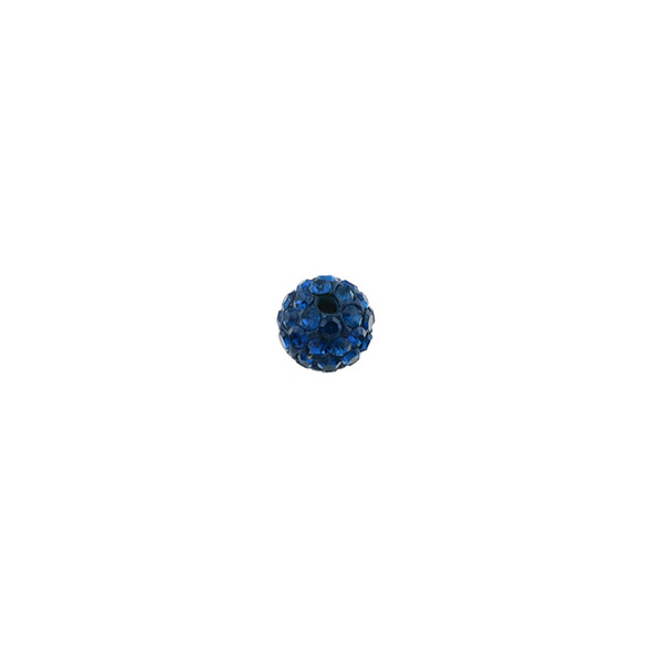 Pave Crystal Beads Montana 6MM - 6/pack