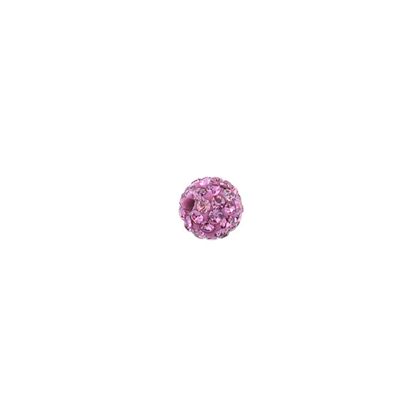 Pave Crystal Beads Rose 6MM - 6/pack