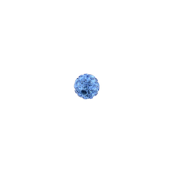 Pave Crystal Beads Light Sapphire 6MM - 6/pack