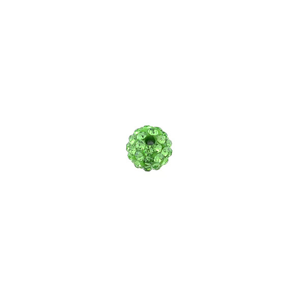 Pave Crystal Beads Peridot 6MM - 6/pack