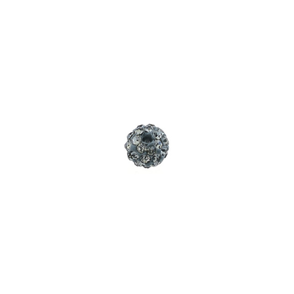 Pave Crystal Beads Black Diamond 6MM - 6/pack