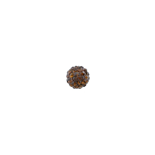 Pave Crystal Beads Topaz 6MM - 6/pack