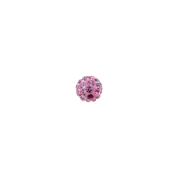 Pave Crystal Beads Light Rose 6MM - 6/pack