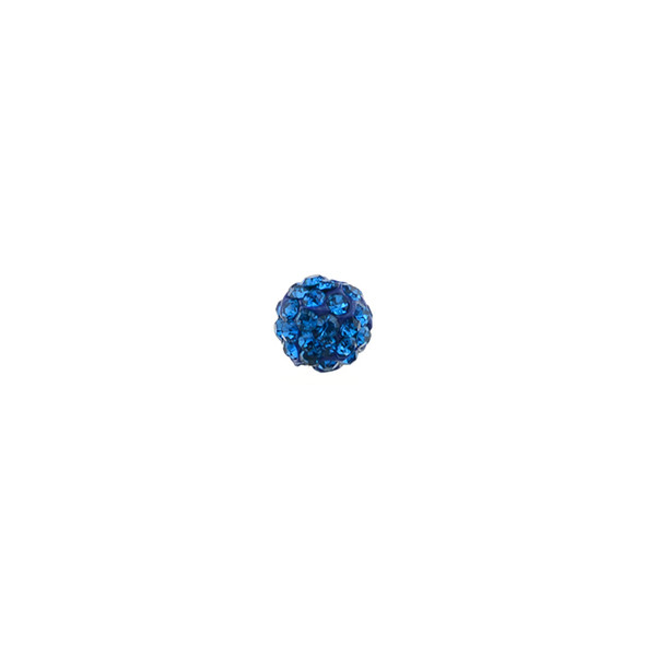 Pave Crystal Beads Capri Blue 6MM - 6/pack