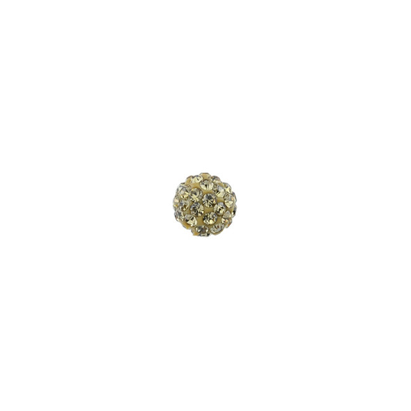 Pave Crystal Beads Light Topaz 6MM - 6/pack