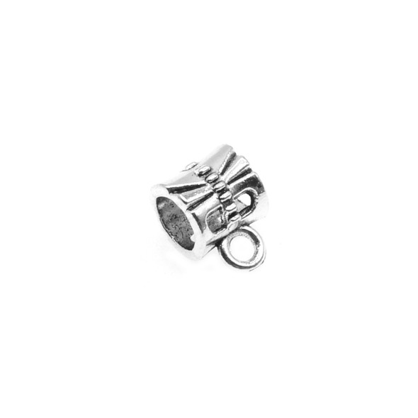 Pewter Dragonfly Tube Spacer with Ring 6.9mm x 7.3mm x 9.9mm (72 Pcs)