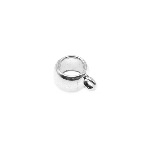 Pewter Plain Tube Spacer with Ring 8.5mm x 5.5mm x 11mm (54 Pcs)