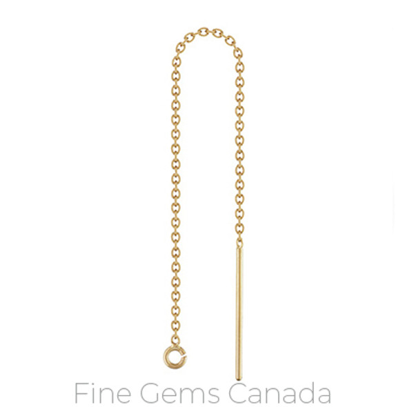 14K Gold Filled - Threader Cable Chain w/Ring - 4/Pack