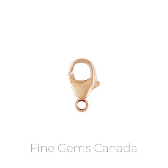 14K Rose Gold Filled - Oval Lobster Trigger Clasp (6.0x11.5mm) - 2/Pack