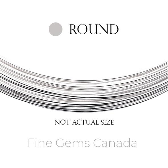 Sterling Silver Wire Half Hard 18 Gauge (1.02mm), Round 1OZ (~12 Feet)