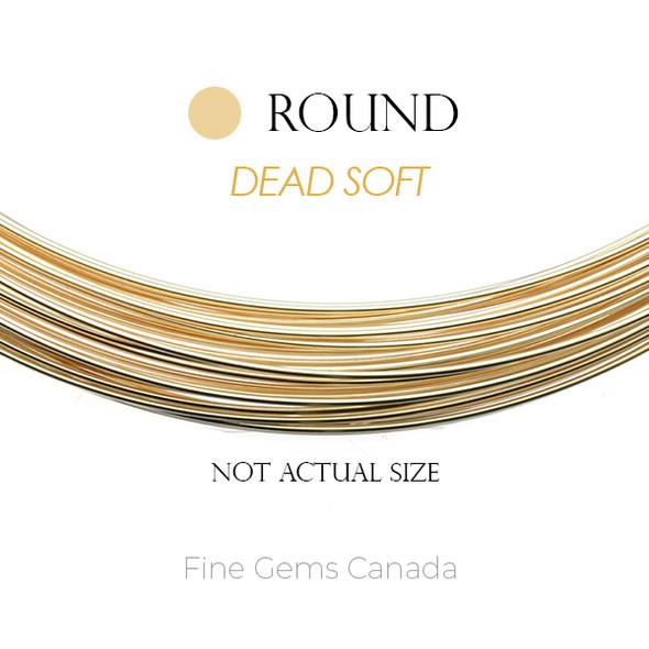 14k Gold Filled Wire Dead Soft 20 Gauge (0.81mm), Round 1/2OZ (~11 Feet)