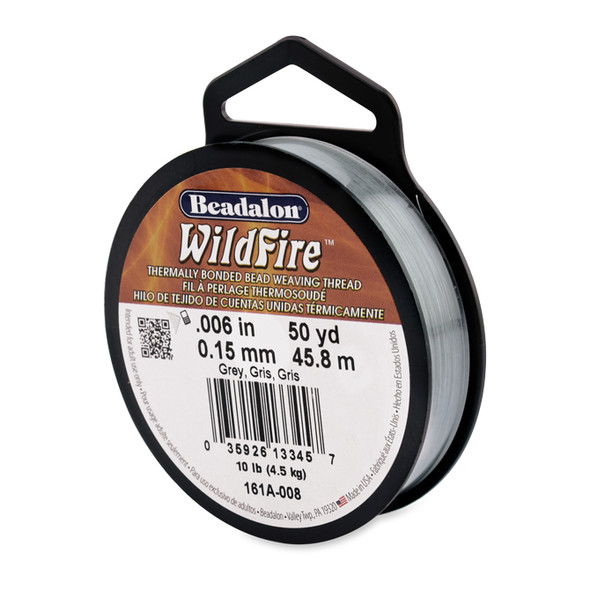 Wildfire, .006 in (.15 mm), Grey, 50 yd (45 m)