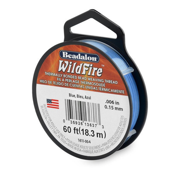 Wildfire, .006 in (.15 mm), Blue, 20 yd (18 m)