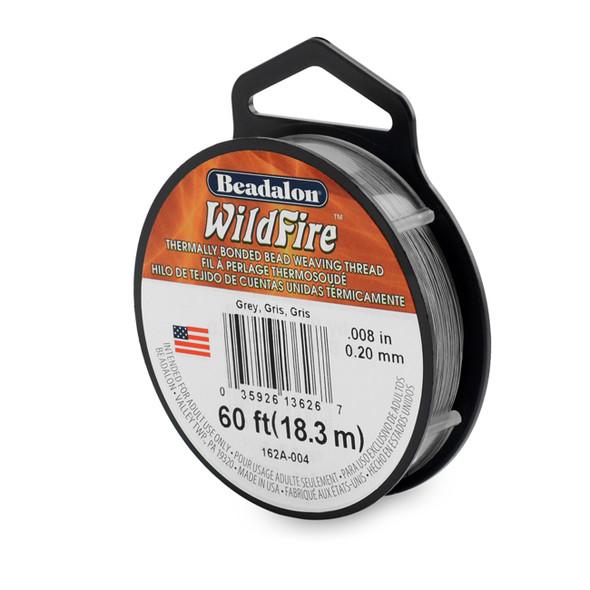 Wildfire, .008 in (.20 mm), Grey, 20 yd (18 m)